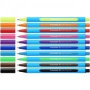 Schneider Novus Vertriebs GmbH Schneider Slider Edge Kugelschreiber, Schreibstift für außergewöhnlich weiches und gleitendes Schreiben, 1 Packung = 10 Stück, XB, hellgrün