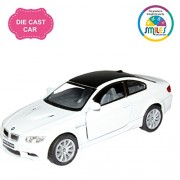 Smiles Creation Kinsmart 1:36 Scale BMW M3 Coupe Car Toys, White (5-inch)