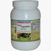 Super Veggiehills Daily Veggies-in-a-tablet Superfoods Supplement (Bottle 900 tablets) by Herbalhills - All Natural 100% Whole-Food Veggie Tablet