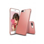 Husa Protectie Spate Ringke Slim Rose Gold pentru Apple iPhone 7 Plus si folie protectie display