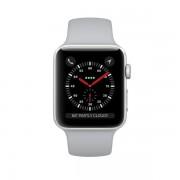 Smartwatch Apple Watch 3 GPS, 38mm, Silver si bratara Sport Fog
