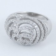 Inel Din Argint 925 Decorat Cu Zircon Alb