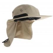 al aire libre Casual de Sol parapesca senderismo Safari Camping al aire libre visera protección UV de secado rápido tapa Sombrero LANG(#Caqui)