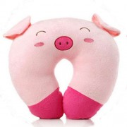 Pink Piggy U Shape Feeding & Nursing Baby Neck Pillow
