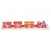 Trenuletul pompierilor, 2 sine cale ferata, 27 cm