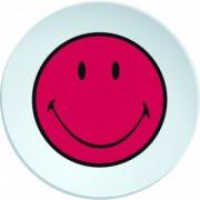 Farfurioara pentru cina Smiley Visiniu/Alb, Ø25 cm