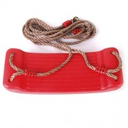 Tradico® Swing Seat Red Plastic Set with Rope Accessories Playground Outdoor Kids