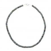 Colier perle de cultura negre rondele 6mm