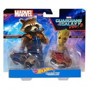 Hot Wheels Guardians of the Galaxy Vol 2 Pack 1:64 Scale Vehicle - Rocker Raccoon and Groot
