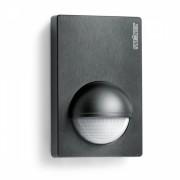 Senzor de miscare infrarosu 180° IP54 perete, Negru