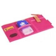 Aeoss Car Sun Visor Storage Point Pocket Documents Organizer, Mobile Holder, Tablet Holder, Credit Card & Visiting Card Holder Bag - 1 Pc (Pink)(Pink)