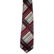 "Cravata vintage ""Pauline Trigere"" print tartan anii '70"