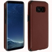 forcell Capa Forcell Wallet Carteira Castanha para Samsung Galaxy S8 Plus