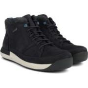 Clarks Johto Hi GTX Dark Blue Nubuck Boots For Men(Black)