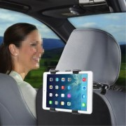 Shop4 - Sony Xperia Z3 Tablet Compact - Autohouder Hoofdsteun Tablet Houder Zwart
