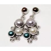Cercei din argint cu perle E6910 (Piatra: perla de cultura, Categorie: cercei)