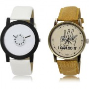 The Shopoholic White Brown Combo Fashionable Funky Look White And Brown Dial Analog Watch For Boys Analog Watches For Boys