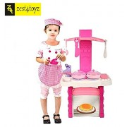 zest 4 toyz Kids Kitchen set children Kitchen Toys Cooking Simulation Model Play Toy for Girl Baby (Pink)