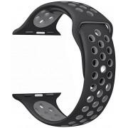 Wotchi Silikonový řemínek pro Apple Watch Černá/Šedá 42/44 mm