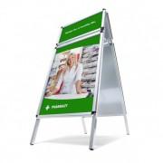 Jansen Display Reklamní áčko A0, s přídavným rámem, oblé rohy, profil 32mm, metalová záda