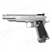 genuino tokyo marui centimetro maestro primavera pistola (HG? hop up) - negro + plata