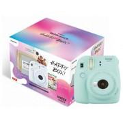 Fujifilm Kit Cámara Instantánea FUJIFILM Instax Mini 9 Happy Box (Ice Blue - Obturación: 1/60 s - 2 x AA)