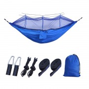 Outdoor Travel Camping Tent Swing Bed Mosquito Net Hanging Hammock - Blue