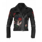 Plus Size Moto Faux Leather Jacket Jackets & Coats - Black/multi/neutral