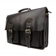 Delton Bags Cognacfarbene Vintage-Ledertasche