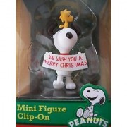 Officially Licensed Peanuts Christmas Snoopy & Woodstock Mini Figure Clip-On