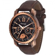 Imperial Club Round Dial Brown Leather Strap Men Quartz Watch