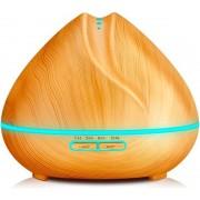 YONO Aroma Diffuser Luchtbevochtiger 400ml – Vernevelaar met LED Verlichting en Etherische Olie Lavendel