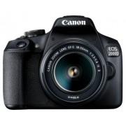 """Aparat Foto D-SLR Canon EOS 2000D + EF-S 18-55mm IS II, 24.1 MP, Ecran 3"""" LCD, Filmare Full HD (Negru)"""