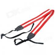 correa ajustable de la correa del cuello / del hombro de la tela para DSLR - rojo + blanco (los 60cm)