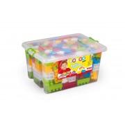 Cutie depozitare cu 230 de cuburi, 24 x 48 x 33 cm