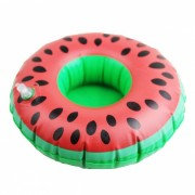 Juguete inflable Watermelon Posavasos Agua Float Drinks Cup Holder