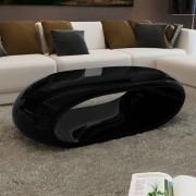 vidaXL Konferenční stolek s dutinou černý
