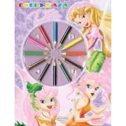 Coloreaza - zane (12 creioane colorate)