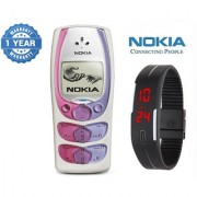Nokia 2300 / Good Condition/ Certified Pre Owned (1 Year Warranty) with Silicon Watch
