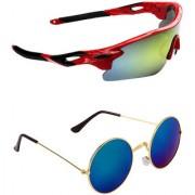 Zyaden Combo of 2 Sunglasses Sport and Round Sunglasses- COMBO 2713