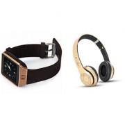 Mirza DZ09 Smart Watch and S460 Bluetooth Headphone for LG OPTIMUS 3D(DZ09 Smart Watch With 4G Sim Card Memory Card| S460 Bluetooth Headphone)
