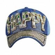 Mens/Women's Sports Baseball Cap Embroidered Adjustable Snapback Unisex Cotton(Happy)