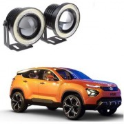 Auto Addict 3.5 High Power Led Projector Fog Light Cob with White Angel Eye Ring 15W Set of 2For Tata H5X
