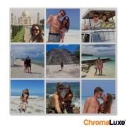 YourSurprise Insta collage - Photo sur aluminium - Chromaluxe blanc 40x40