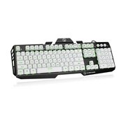 IOGEAR Kaliber Gaming Plunger Keyboard - Cable Connectivity - Imperial White
