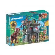 Playmobil Acampamento Base com T-Rex 9429Multicolor- TAMANHO ÚNICO