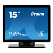 iiyama 15' PCAP Bezel Free Front, 10P Touch, 1024x768, Speakers, VGA, 325cd/m² (with touch), 700:1, 8ms, USB Interface, External Power Adapter, VESA 100, Multitouch with supported OS