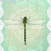 Lunchservet Romantic Dragonfly