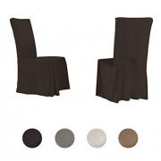 Serta Funda para silla de comedor regular, color Chocolate, Silla de comedor estándar