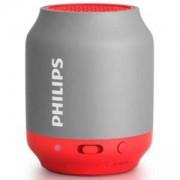 Philips Bluetooth безжична портативна колонка, акумулаторна батерия 2 W, цвят: сив/розов, BT25G - разопакован продукт